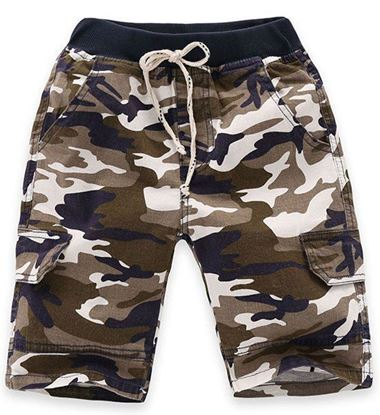 Boys Drawstring Camouflage Shorts
