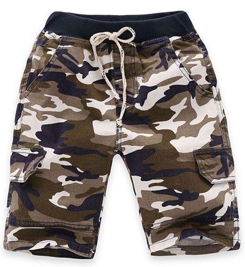 Boys Drawstring Camouflage Shorts