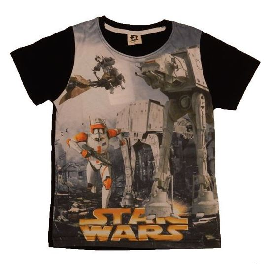 Casual Round Neck 3D Star Wars Cartoon Short Sleeve T-Shirt For Kids