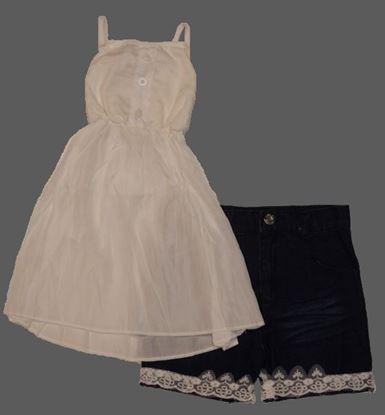 Girls Spaghetti Strap Tank Top + Denim Shorts