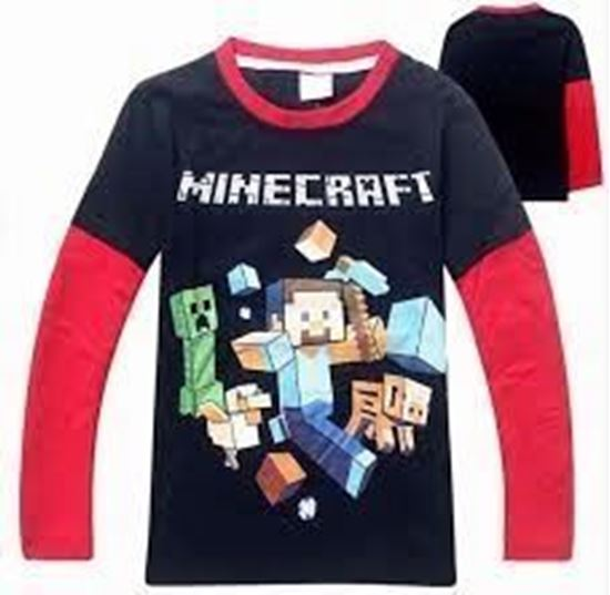 4d2ac50b BolCan Direct. Boys Long Sleeve Minecraft Shirt