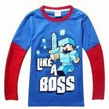 0623f946 Boys Long Sleeve Minecraft Shirt Boys Long Sleeve Minecraft Shirt