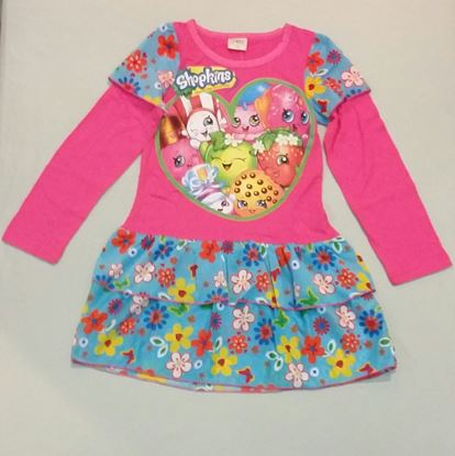 Girls Shopkins Long Sleeve Dress