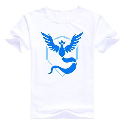 "Mens Pokemon Go T-Shirt ""Team Mystic"" brand"
